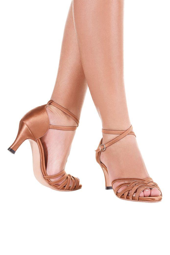 Sandalia-de-Danca-de-Salao-Vegana-BL68VG---Sola-Sintetica---Salto-7cm---Cetim---Bronze